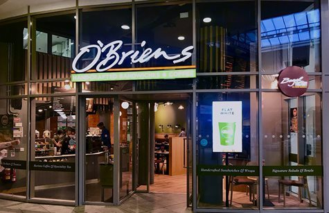 O'Briens cafe in Connolly station